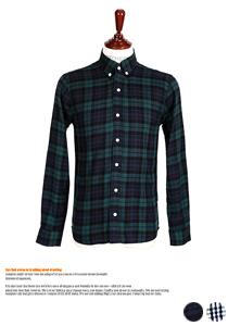 미니 깅엄 체크 포인트 셔츠