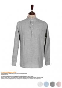 부담없이 입기좋은 헨리넥 셔츠