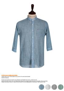 시원하게 입는 슬라브 헨리넥 셔츠