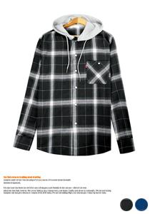 개성있는 스타일링 후드 레이어드 셔츠
