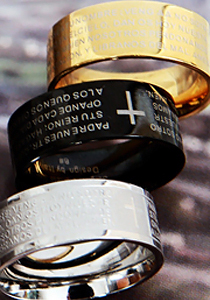 십자가영어반지